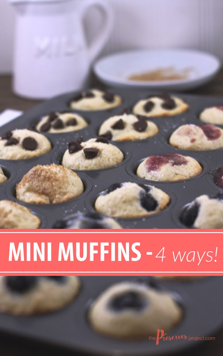 These Mini Muffins are fun to eat and easy to customize. And this simple recipe is a great one to get the kids helping in the kitchen!