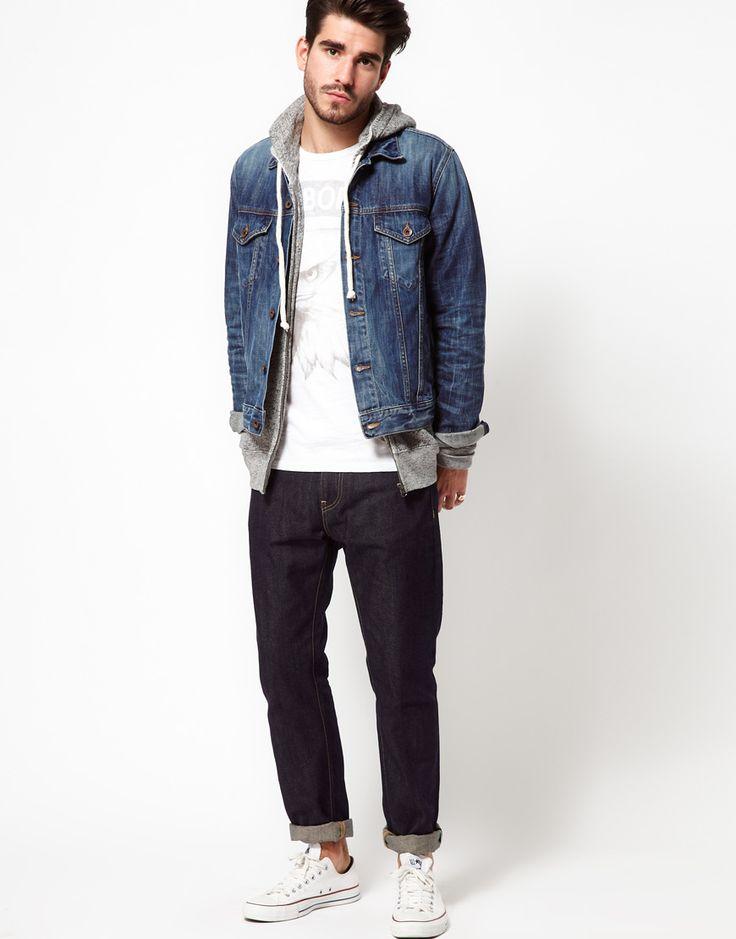 Denim Outfits Men | Things To Wear | Pinterest | Men Street