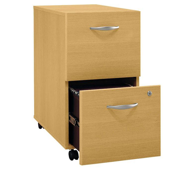 2 Drawer Wood File Cabinet