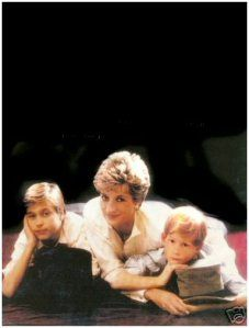Princess Diana, Prince Wiliam, and Prince Harry