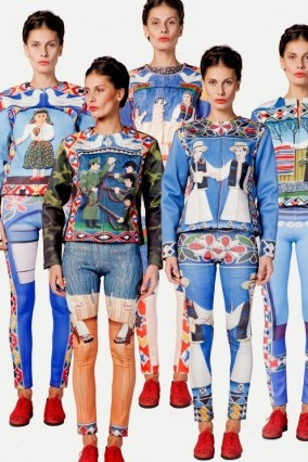 New work from Romanian designer, Lana. The designs are inspired by the colourful tombstones of the 'Merry Cemetary' in the village of Săpânţa, Maramureş county.