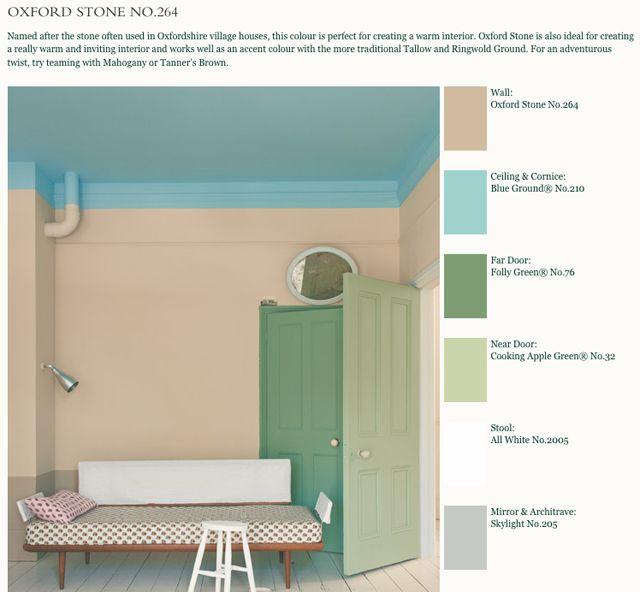 farrow and ball. inspiratie kinderkamer. plafond kleur