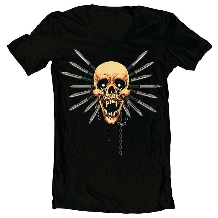 Skull Knife T-shirt clip art