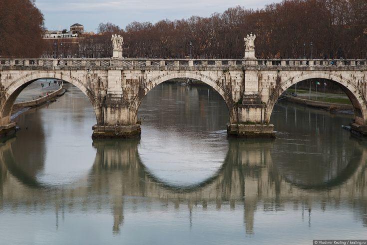 http://kezling.ru/wp-media/italy_in_winter_1_032.jpg Мост Святого Ангела.