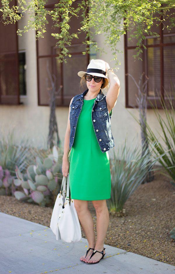 Work/Weekend: Green Dress