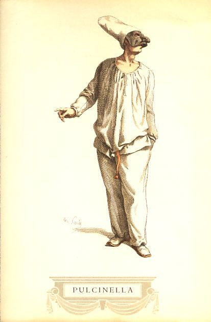 "Pulcinella, by Maurice Sand, ""Masques et Bouffons"" 1860"