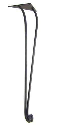 "29"" high traditional-style wrought iron table leg"