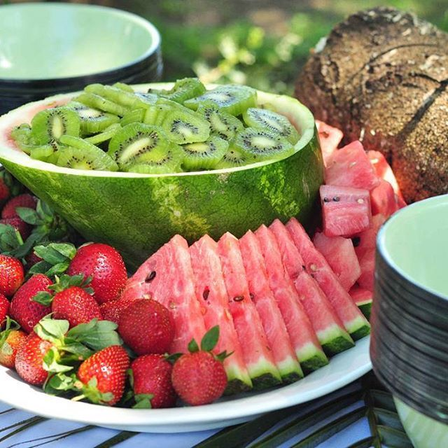 There is nothing quite like enjoying a breakfast amid the morning sounds of the vibrant indigenous coastal bush.  #discoverumngazi #riverbreakfast  #tuesdaytreat #traveltuesday #breakfast #buffet #watermelon #kiwi #strawberries #yum #foodie #naturelovers #travel #paradise #wildcoast #easterncape #southafrica #foodphotography #healthy #food