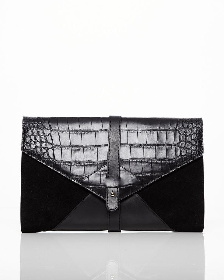 Fantastisk oversize kuvertväska från Little Liffner i Italienskt läder. Block i…
