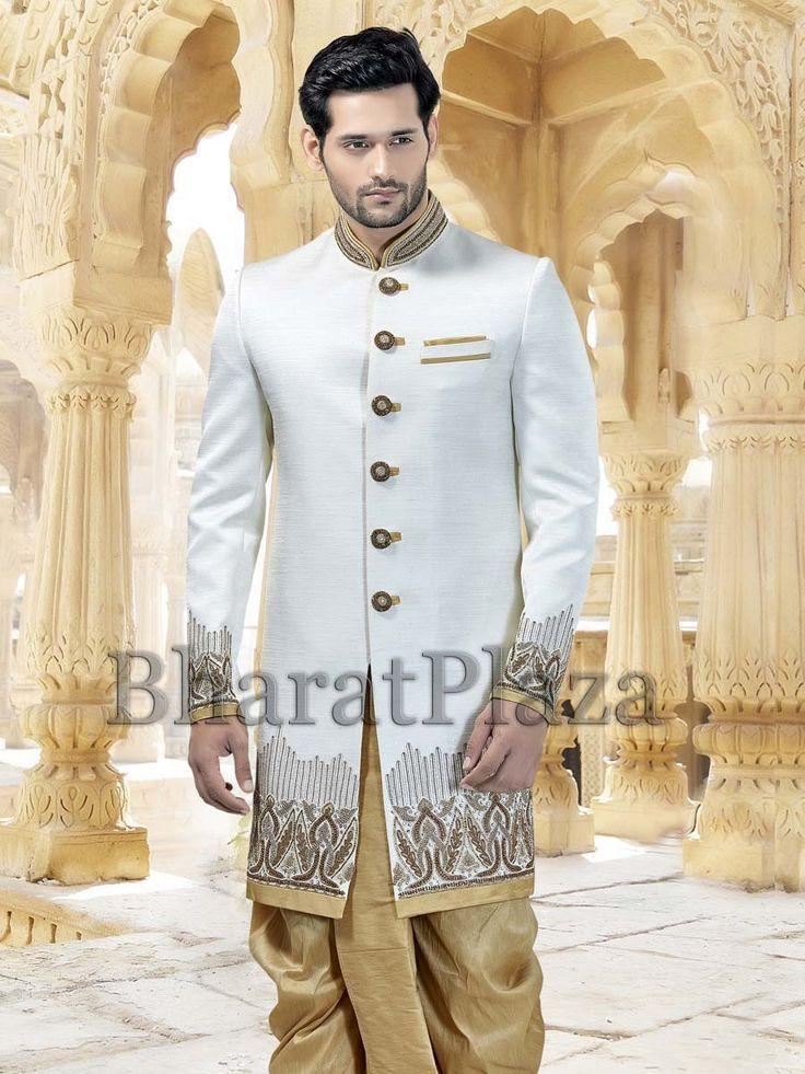Raw Silk Wedding Indo Western