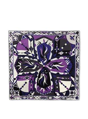 52% OFF Pucci Women's New Icon Print Silk Twill Scarf, Navy/Purple