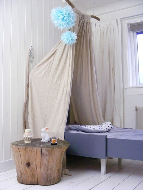 FRIVOLE ( love the curtain and side table)