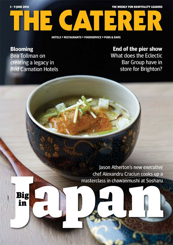 In this week's issue. Big in Japan, Jason Atherton's new executive chef Alexandru Cracium cooks up a masterclass in chawanmushi at Sosharu. To subscribe go to www.thecaterer.com/sbuscribe