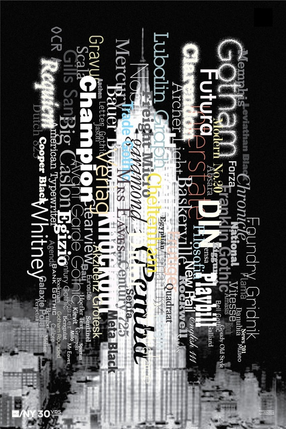 Paula Scher limited-edition poster for AIGA/NY 30th