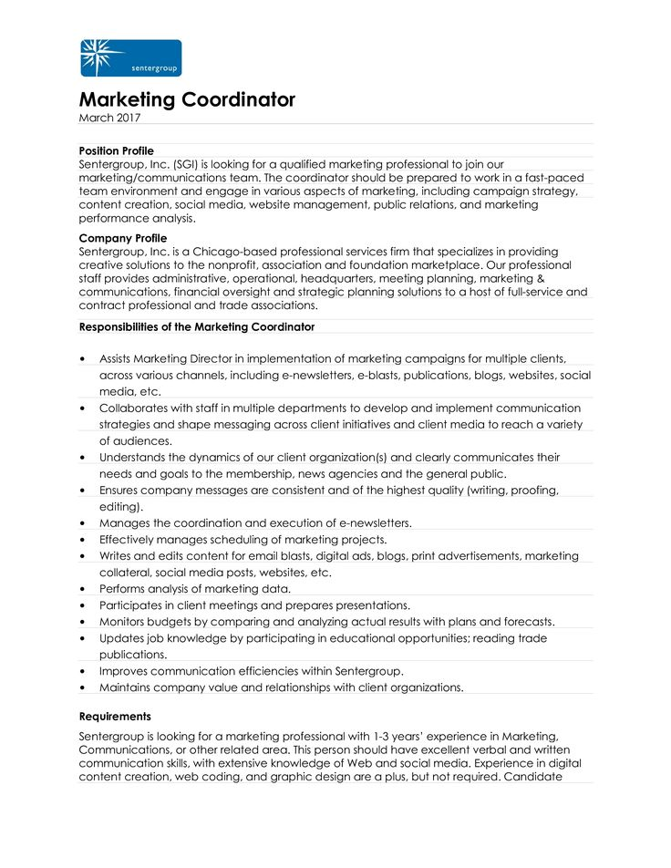 Sample Marketing Coordinator Resume How to draft a