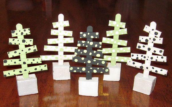 CraftStick Xmas Trees