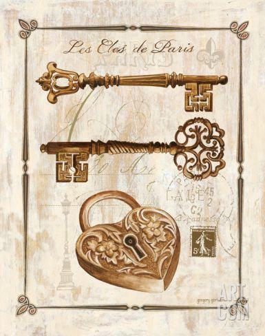 Keys to Paris II Print by Gregory Gorham at eu.art.com