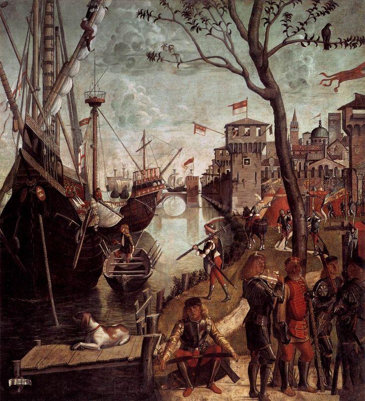 The Arrival of the Pilgrims in Cologne, Vittore Carpaccio, 1490, Tempera on canvas. Tumblr