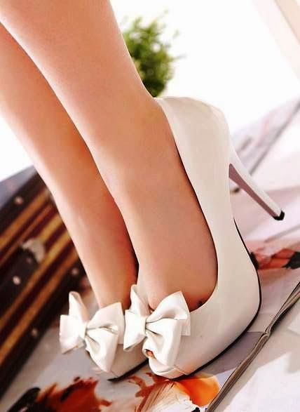 Fashionista Tribe : Cute High Heel Bow Pumps
