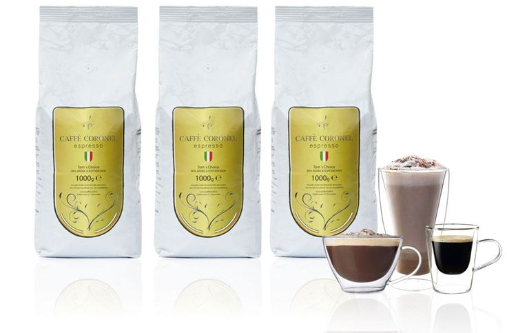 Caffe Coronel Tom's Choice 3kg  Caffe Coronel Tom's Choice: 3kg De Caffe Coronel - Tom's Choice is de nieuwste creatie van Tom Coronel Sr.! Maak nu kennis met deze nieuwe koffie waar Tom Coronel Sr. eindelijkde unieke smaak van een koffie heeft gevonden waar die al jaren naar op zoek was. De koffie is een gecompliceerde in Italië gebrande koffie. Waarom? Er zijn namelijk maar liefst zeven Arabica soorten gemend. Deze zijn geweekt in: Brazilië (en in twee verschillende regio's) Ethiopië…