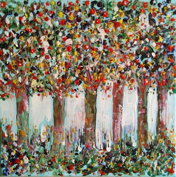 Original abstract tree paintingacrylic tree by AntigoniArtGallery