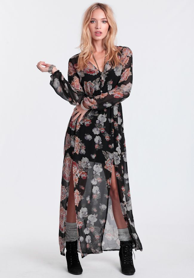 Light Floral Breeze Maxi Dress By MINKPINK at #threadsence @threadsence