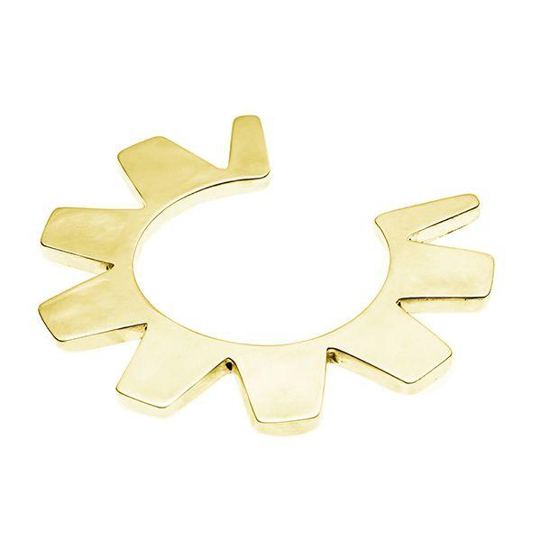 PUSHMATAAHA // Oola Sun Cuff in Gold Plate