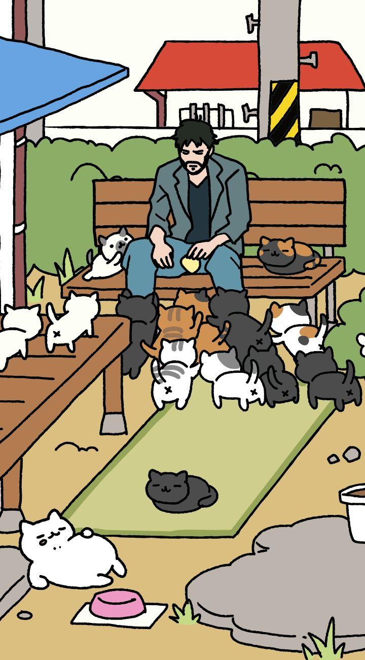 柊暁生@魔王さま漫画版⑦2/27発売 さんの作品 ========== 【仕事と関係ない話】キアヌ主演「JOHN WICK」日本公開決定が嬉しい気持ちとねこあつめをやってみたい気持ちを一つの画像にまとめました
