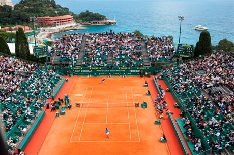 One of the most beautiful settings for tennis in the world -- Monte Carlo Tennis Club