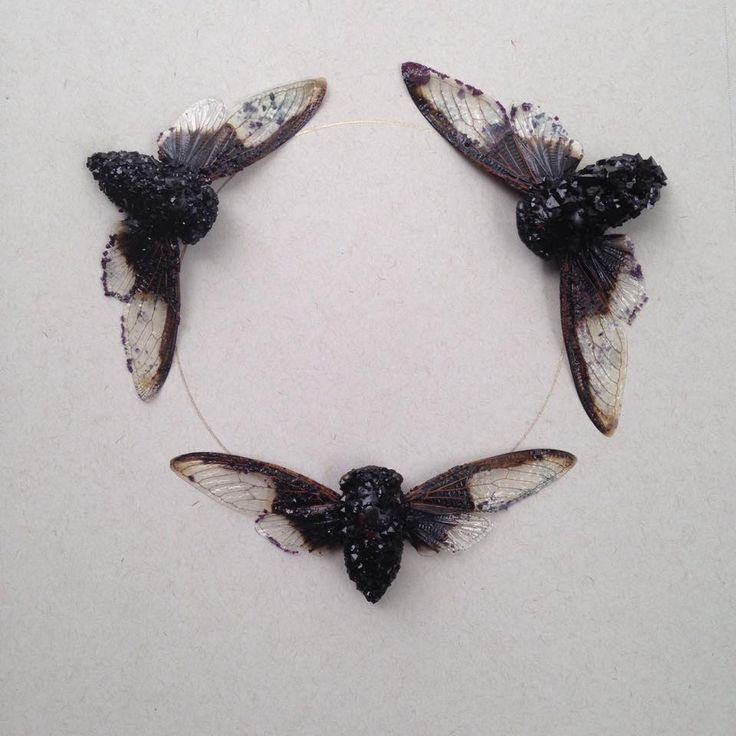 """Amethyst"" Adult Cicada - So beautiful, I love the idea of crystallizing something dead. Wonder if it's diyable..."