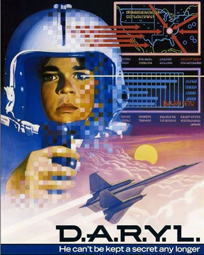 A great one from the 80s. HBO used to play it non-stop. An Android in the body of a ten year old. Yea he could fly jets. #1980s #80s #daryl #scifi #sciencefiction #hbo #movie #film #cinema #movieposter #alternativemovieposter #geek #nerd #vintage #retro #nostalgia