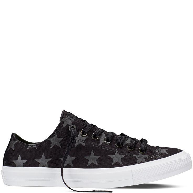 from converse.com · Chuck Taylor All Star II Reflective Star Print Black/ Black/White black/black