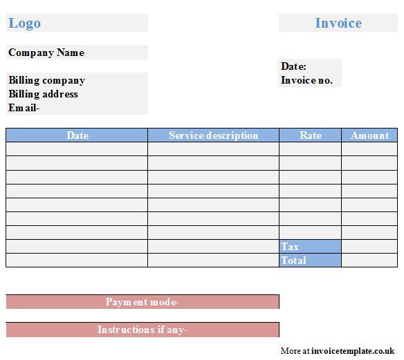 Free Sample Service Invoice Template | Service Invoice Sample Template, Free Service Invoice Sample Template ...
