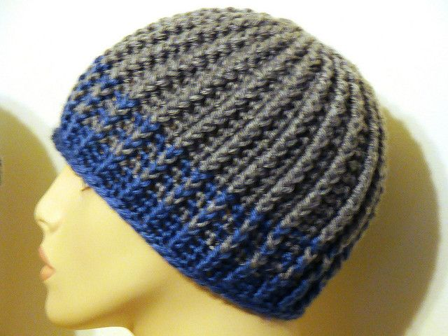 Skully for tony  Pattern  http://www.ravelry.com/patterns/library/reversible-strands-for-men-and-women-too