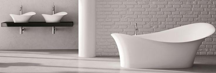 Exkluzív szabadonálló kádak a Marmorintól, kollekcióban is!   ALICE #marmorin #exclusive #bathtube #bathroom #bath #design #freedom #beauty #white #minimal #style #idea #collection #alice