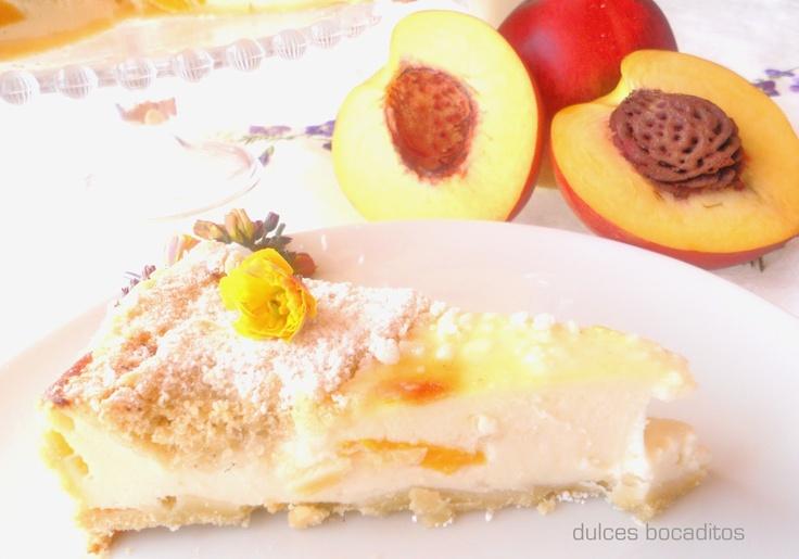 TARTA DE REQUESÓN Y MELOCOTÓN ~ The Spanish Food