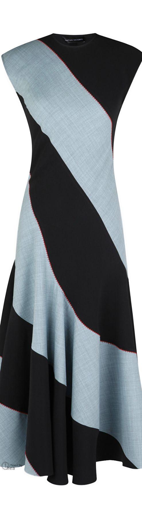 Jonathan Saunders, FW 2014 ● Wool Suiting Dress        WW/MC