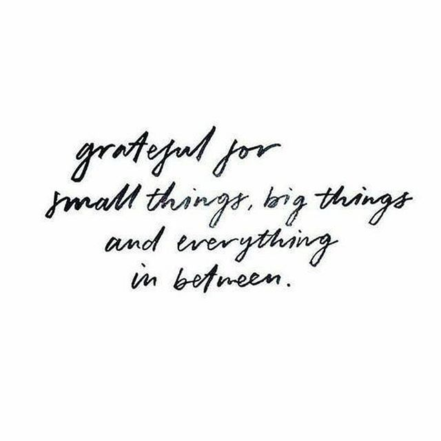 What things are you grateful for? ❤️