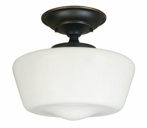 World Imports Lighting 9007-88 Luray 1-Light Semi-Flush Light Fixture, Oil Rubbed Bronze