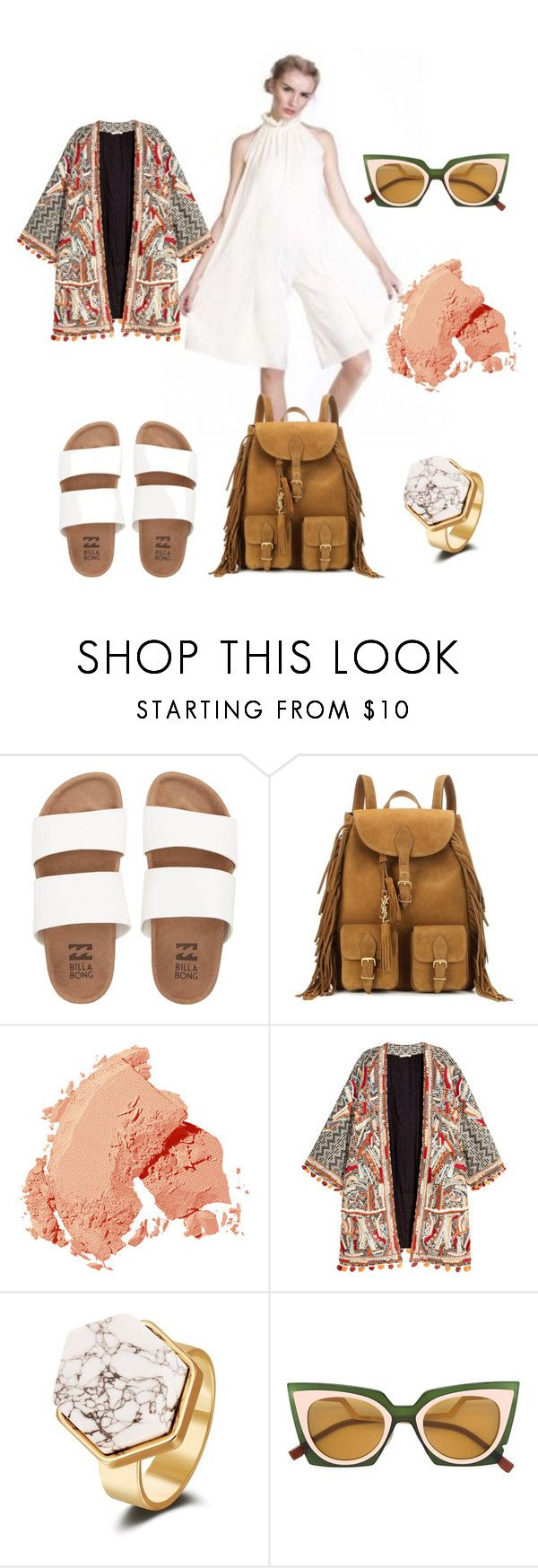"""""""I need to buy some milk"""" by katkat-cdlii on Polyvore featuring Billabong, Yves Saint Laurent, Bobbi Brown Cosmetics, H&M and Fendi"""