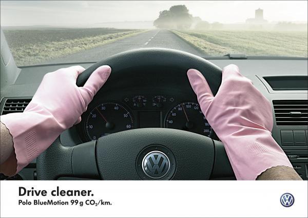 GLOVES, VW Polo Bluemotion, DDB, Volkswagen, Печатная реклама
