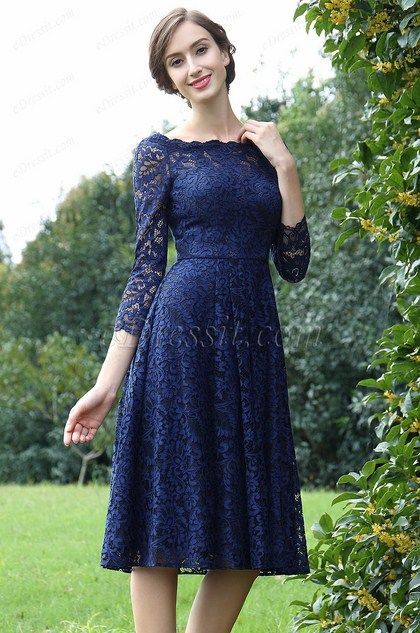 eDressit Long Sleeves Blue Lace Mother of the Bride Dress (26170205) 8f235ace22ff