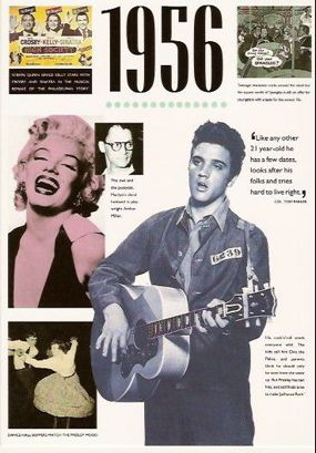 Elvis 1956 … It was Presley's breakout year in music, TV, and films