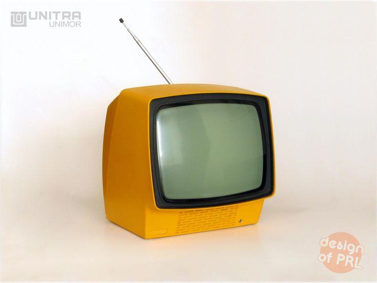 1980, Unitra Unimor, telewizor turystyczny Neptun 150, autor projektu: Tadeusz Iwanow.