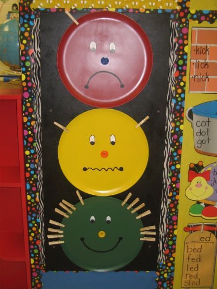 A simple idea for classroom behavior stop light - not sure how I feel about these, but can't hurt to have ideas