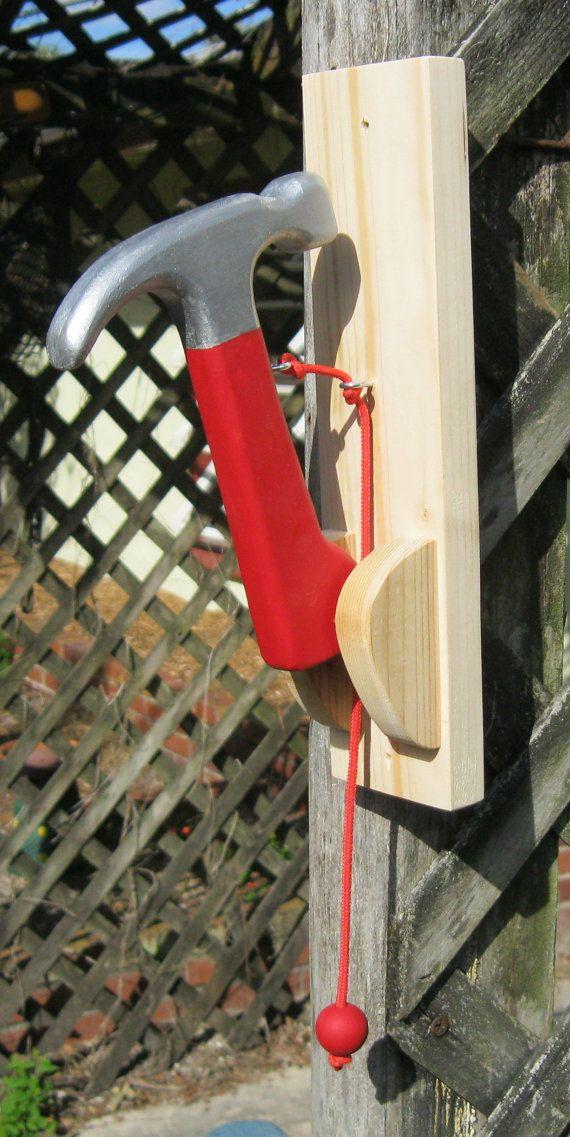 Hammer Door Knocker by NatureWoodcraft on Etsy