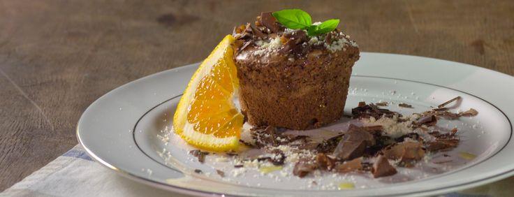 Olive Oil Chocolate cake with orange