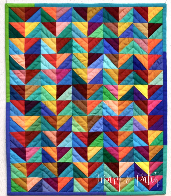 218 Best Half Square Triangle Quilts Images On Pinterest