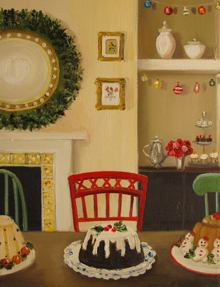 janet hill #Christmas #art