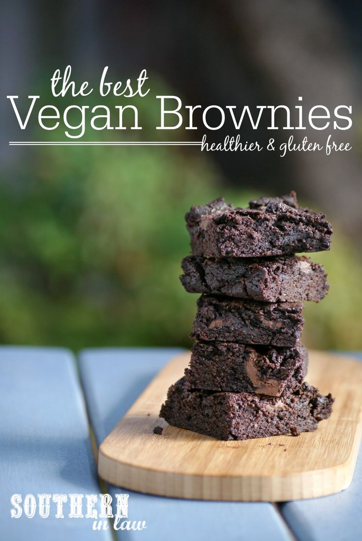 The Best Vegan Brownie Recipe that is also gluten free and much healthier too! Healthy, gluten free, nut free, egg free, low fat, dairy free, vegan, refined sugar free and a clean eating recipe. With crunchy chewy tops and fudgy centres studded with gooey chocolate chips, this recipe is a must make!